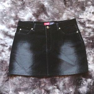NWOT Younique Jeans black velvet mini skirt